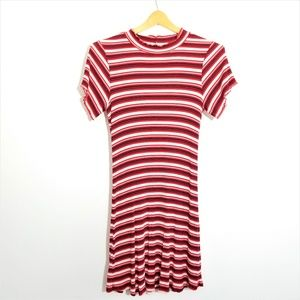 4/$25 Wild Fable Red and White 90's Vibe Dress